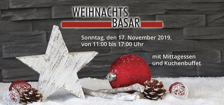 Herzliche Einladung zum Weihnachtsbasar!